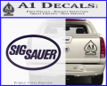 Sig Sauer Decal Sticker Oval Purple Vinyl 120x97