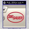 Sig Sauer Decal Sticker Oval Red Vinyl 120x120