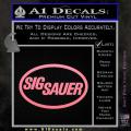 Sig Sauer Decal Sticker Oval Soft Pink Emblem 120x120
