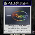 Sig Sauer Decal Sticker Oval Spectrum Vinyl 120x120