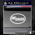 Sig Sauer Decal Sticker Oval White Vinyl 120x120