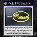 Sig Sauer Decal Sticker Oval Yellow Vinyl 120x120