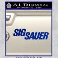 Sig Sauer Decal Sticker Wide Blue Vinyl 120x120