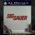 Sig Sauer Decal Sticker Wide DRD Vinyl 120x120