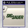Sig Sauer Decal Sticker Wide Dark Green Vinyl 120x120
