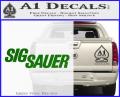 Sig Sauer Decal Sticker Wide Green Vinyl 120x97