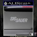 Sig Sauer Decal Sticker Wide Grey Vinyl 120x120