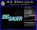 Sig Sauer Decal Sticker Wide Light Blue Vinyl 120x97