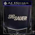 Sig Sauer Decal Sticker Wide Metallic Silver Vinyl 120x120