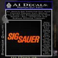 Sig Sauer Decal Sticker Wide Orange Emblem 120x120