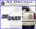 Sig Sauer Decal Sticker Wide Purple Vinyl 120x97