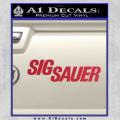 Sig Sauer Decal Sticker Wide Red Vinyl 120x120