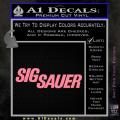 Sig Sauer Decal Sticker Wide Soft Pink Emblem 120x120