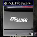 Sig Sauer Decal Sticker Wide White Vinyl 120x120