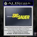 Sig Sauer Decal Sticker Wide Yellow Vinyl 120x120