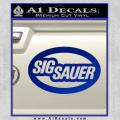 Sig Sauer Oval D2 Decal Sticker Blue Vinyl 120x120
