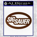 Sig Sauer Oval D2 Decal Sticker Brown Vinyl 120x120