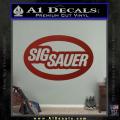 Sig Sauer Oval D2 Decal Sticker DRD Vinyl 120x120