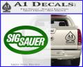 Sig Sauer Oval D2 Decal Sticker Green Vinyl 120x97