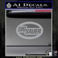 Sig Sauer Oval D2 Decal Sticker Grey Vinyl 120x120