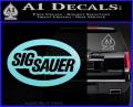 Sig Sauer Oval D2 Decal Sticker Light Blue Vinyl 120x97