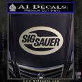 Sig Sauer Oval D2 Decal Sticker Metallic Silver Vinyl 120x120