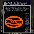 Sig Sauer Oval D2 Decal Sticker Orange Emblem 120x120