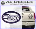 Sig Sauer Oval D2 Decal Sticker Purple Vinyl 120x97
