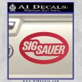 Sig Sauer Oval D2 Decal Sticker Red Vinyl 120x120