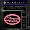 Sig Sauer Oval D2 Decal Sticker Soft Pink Emblem 120x120