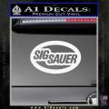 Sig Sauer Oval D2 Decal Sticker White Vinyl 120x120