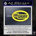 Sig Sauer Oval D2 Decal Sticker Yellow Vinyl 120x120