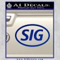 Sig Saur Firearms SIG Decal Sticker Blue Vinyl 120x120