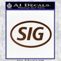 Sig Saur Firearms SIG Decal Sticker Brown Vinyl 120x120