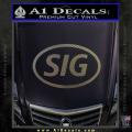 Sig Saur Firearms SIG Decal Sticker CFC Vinyl 120x120
