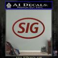Sig Saur Firearms SIG Decal Sticker DRD Vinyl 120x120
