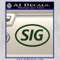 Sig Saur Firearms SIG Decal Sticker Dark Green Vinyl 120x120