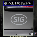Sig Saur Firearms SIG Decal Sticker Grey Vinyl 120x120