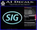 Sig Saur Firearms SIG Decal Sticker Light Blue Vinyl 120x97