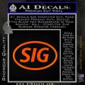 Sig Saur Firearms SIG Decal Sticker Orange Emblem 120x120