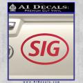 Sig Saur Firearms SIG Decal Sticker Red Vinyl 120x120