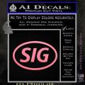 Sig Saur Firearms SIG Decal Sticker Soft Pink Emblem 120x120