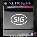 Sig Saur Firearms SIG Decal Sticker White Vinyl 120x120