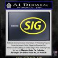 Sig Saur Firearms SIG Decal Sticker Yellow Vinyl 120x120