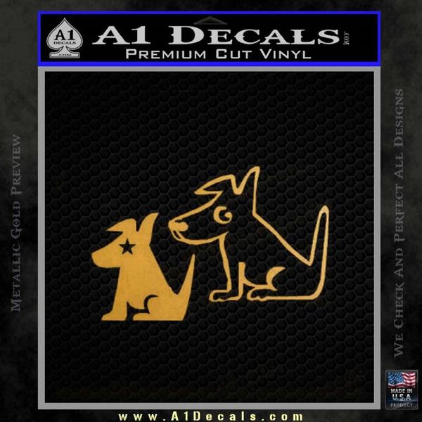 Sirius Satellite Decal Sticker Dogs 22