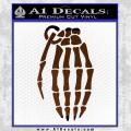 Skeleton Grenade Decal Sticker Brown Vinyl 120x120