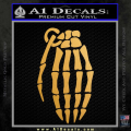 Skeleton Grenade Decal Sticker Gold Metallic Vinyl 120x120