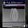 Skeleton Grenade Decal Sticker Grey Vinyl 120x120