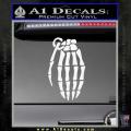Skeleton Grenade Decal Sticker White Vinyl 120x120