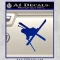 Skiing Iron Cross Silhouette D1 Decal Sticker Blue Vinyl 120x120